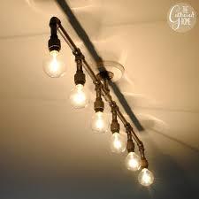 Lights Fixture Well Suited Plumbing Pipe Light Fixture Exquisite Design How To