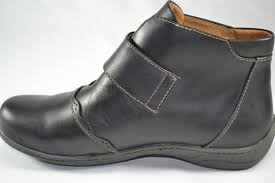 womens boots melbourne kubo womens melbourne black velcro ankle boot my shoebox