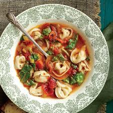 Italian Soup by Chicken And Prosciutto Tortelloni Soup Recipe Myrecipes