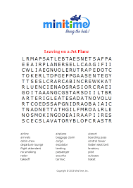 plane trip word searches free printable travel word searches for