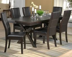 grethell 7 piece dining room set espresso leon s 7 piece dining room set espresso hover to zoom