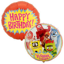 balloon delivery wilmington nc yo gabba gabba foil balloon birthdayexpress