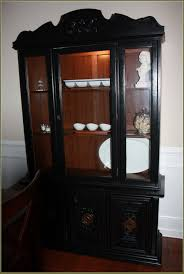 black painted china cabinet home design ideas