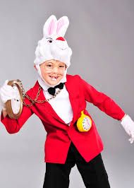 childrens wonderland white rabbit costume with watch