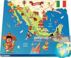 map usa y mexico map of mexico vector getty images