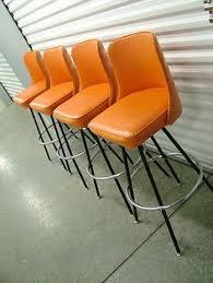 modern orange bar stools mid century modern bar stools set of 3 on onekingslane com aqua