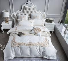 Royal Bedding Sets 4 7pieces 100s Cotton Purple Luxury Wedding Royal