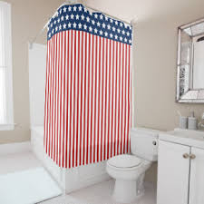 Red White Shower Curtain Red White And Blue Shower Curtains Zazzle