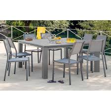 table de jardin carrée fiero en aluminium 160x160x74cm