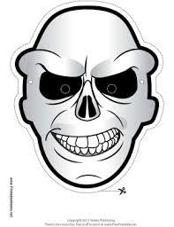 free cartoon skull printable mask free freebies