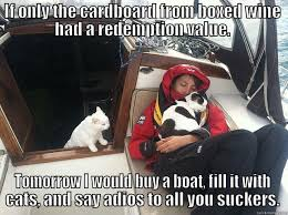Crazy Cat Lady Memes - crazy cat lady on a boat quickmeme