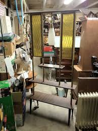 vintage room divider lamp shelf screen unit deco pinterest