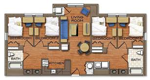 four bedroom floor plans cus town