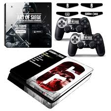 siege sony rainbow six siege ps4 slim vinyl skin decal sticker cover for