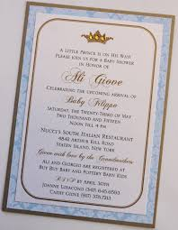 baby prince blue and gold baby shower invitation blue damask