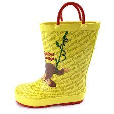 curious george kids rain boots