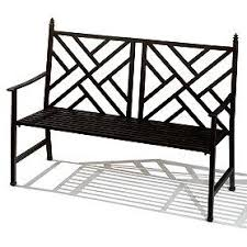 Steel Garden Bench Black Metal Garden Bench