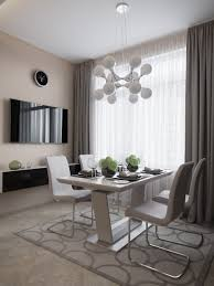 interior gray curtains for dining room along with white stylish