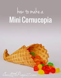 how to make a mini cornucopia out of a waffle cone an easy tutorial