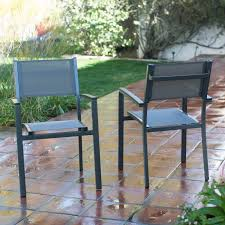 Patio Stack Chairs by Belham Living Whitney Sling Chair And Stone Table Patio Bistro Set