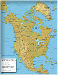 North America Continent Map by North America Map