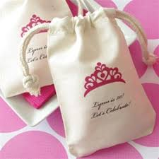 muslin favor bags personalized muslin favor bag for 2 sizes available