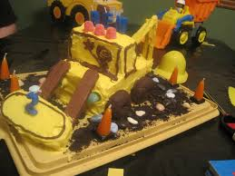 walk in the sunshine excavator birthday cake