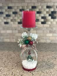 wine glass snow globes christmas candle holder christmas candle wine glass globe