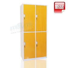 Yellow Metal Storage Cabinet Yellow Maize Student Dormitory Storage Locker Self Assembly 4