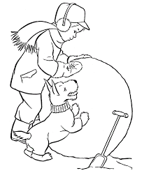 winter coloring pages kindergarten kids coloring