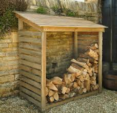 wooden log store firewood storage for more home and decor