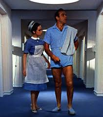 terry cloth jumpsuit famed bond goldfinger blue terry romper pockets zip