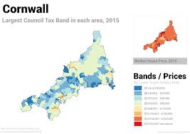 Map Of Cornwall England by These Five Maps Prove It U0027s Time To Reform Council Tax In England