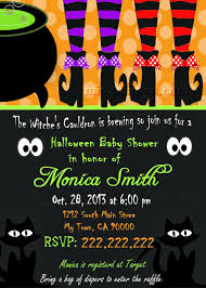 Halloween Baby Party Ideas Mis 2 Manos Made By My Hands Halloween Baby Shower Invitation