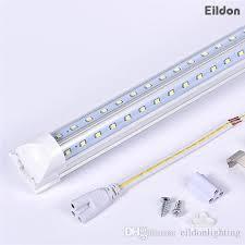 led tube lights vs fluorescent t8 led tubes lights 8ft 66w 7000lm v shaped integrated ac85 265v pf0