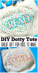 gift for family diy dotty tote bags what can we do with paper and glue