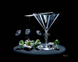 martini glass painting michael godard art for sale
