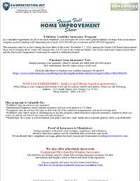 show insurance form u2014 fresno home shows