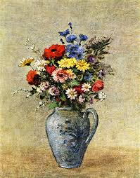 Pictures Of Vases With Flowers Flowers In A Vase With One Handle C 1905 Odilon Redon Wikiart Org