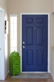Interior Door Color Navy Blue Interior Front Door Easy Pop Of Color