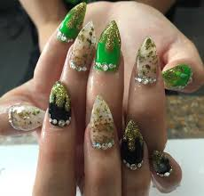 weed nails is the craziest nail trend of the moment