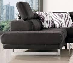 fabric modern sectional sofa w adjustable headrest black fabric modern sectional sofa w adjustable headrest