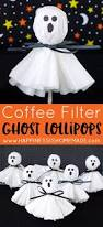coffee filter ghost lollipops coffee filters coffee and holidays