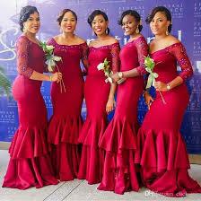 black mermaid bridesmaid dresses long with 3 4 long sleeves