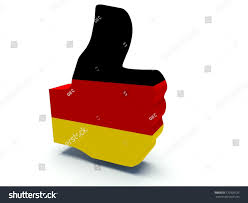 Germany Flag Colors Thumbs Sign Germany Flag Colors 3d Stock Illustration 172920125