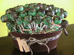 camo baby shower just right cake pops camo baby shower