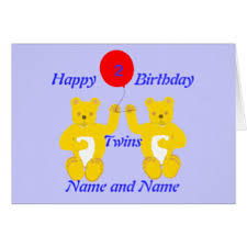 twin first birthday cards twin first birthday greeting cards