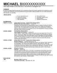 outside sales resume examples resume example and free resume maker