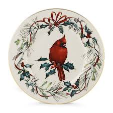 lenox winter greetings cardinal 9 accent plate
