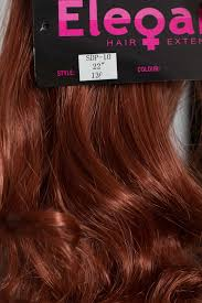4 Piece Clip In Hair Extensions by Ponytail Clip In On Hair Piece Extension Red Golden Ginger